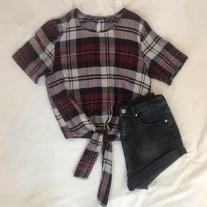Flannel Crop Top - brand is Style Envy